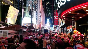 Riesige Silvesterfeier in New York