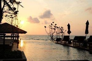 Sonnenuntergang im Banana Fan Sea Resort - Thailand