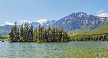 Pyramid Lake im Jasper Nationalpark