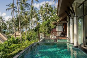 Privatpool der Family Deluxe Pool Villa - Banyan Tree Samui - Thailand
