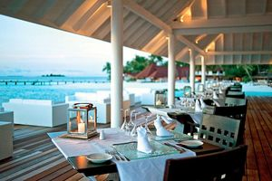Aqua Over Water Restaurant: Die Terrasse