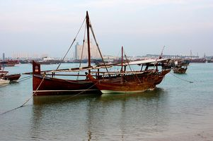Traditionelle Dhows ins Doha - Katar