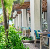 Terrasse des Restaurants Sapori - Long Beach - Belle Mare - Mauritius