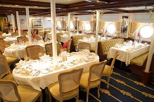 Restaurant an Bord der Star Clipperl - Thailands Inselwelt mit der Star Clipper