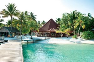 Blick ins Inselinnere Diamonds Athuruga Beach & Water Villas
