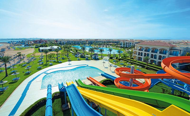 Wasserrutschen im Aquapark des Jaz Aquamarine - Ägypten - Hurghada