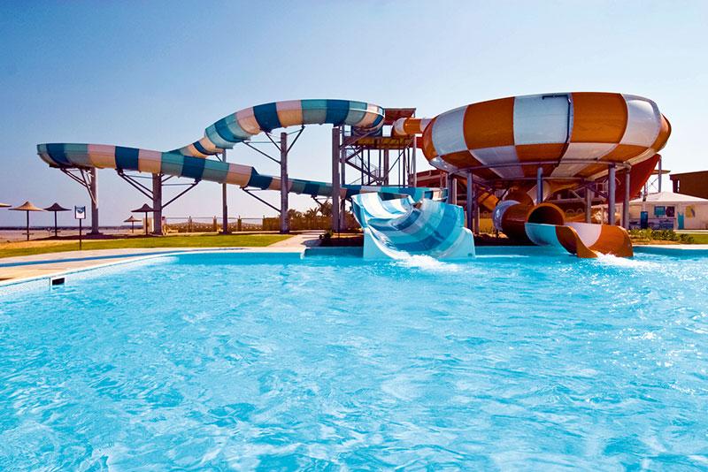 Wasserrutschenspaß im Aquapark des Jaz Aquamarine - Ägypten - Hurghada